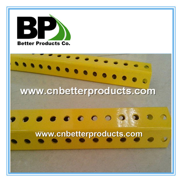 powder coated yellow metal square post
