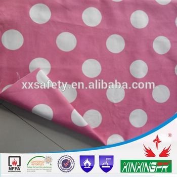 100cotton flame retardant printed knitted jersey fabric