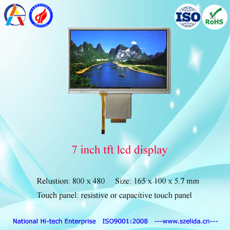 top quality 1024x600 lcd panel 7 inch with lvds interface