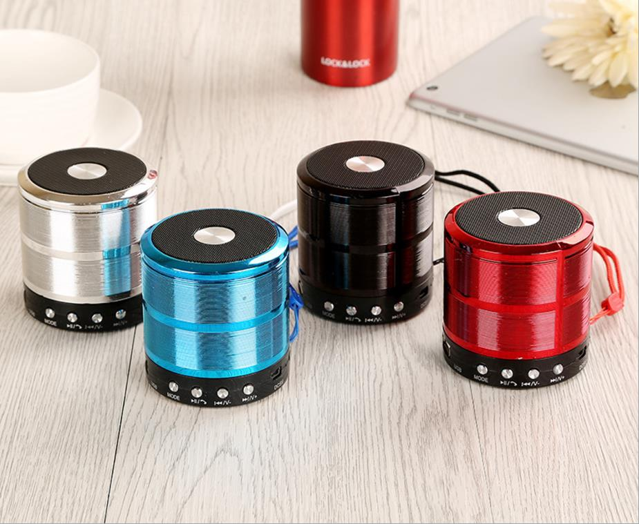 HIFI Stereo portable mini metal bluetooth wireless speaker ws 887 USB TF mini speaker