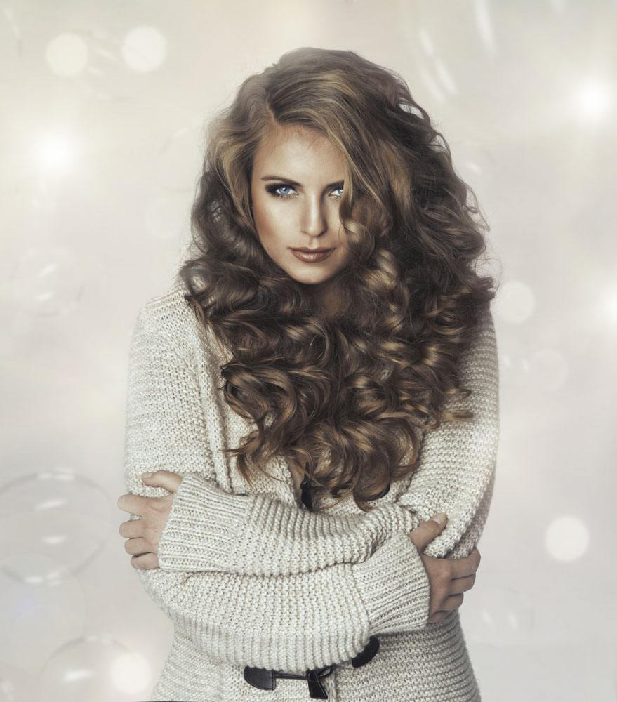 Light Brown Loose wave FULL LACE Human hair wig