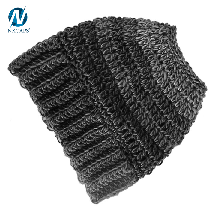 Custom messy bun hat knitting beanie hats and caps