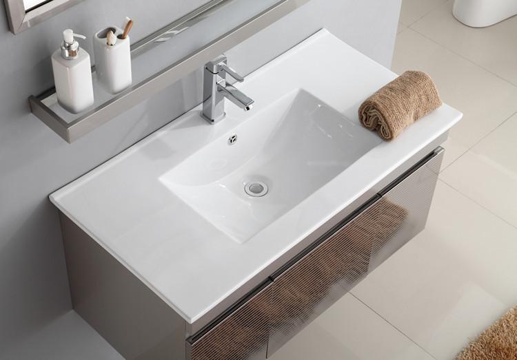 Bathroom different size thin rectangular ceramic wash hand cabinet basin