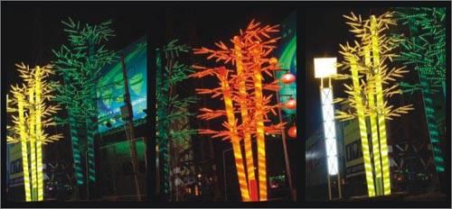 lighted bamboo tree lighting firework lights fixtures outdoor