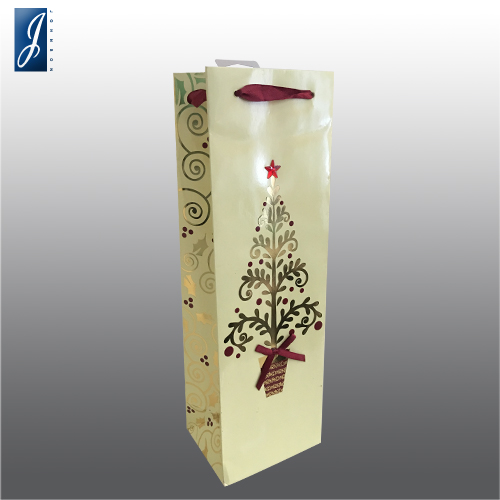 Customized chirsmas wine paper bag for A