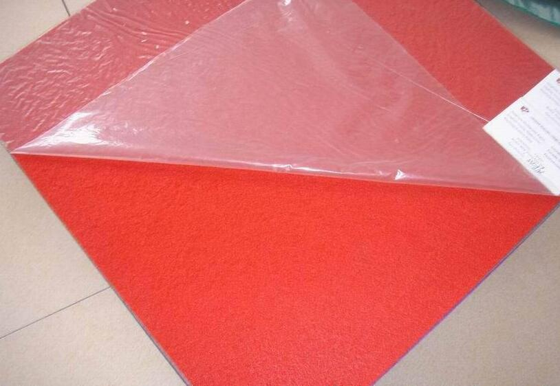 needle punched non woven carpet with film