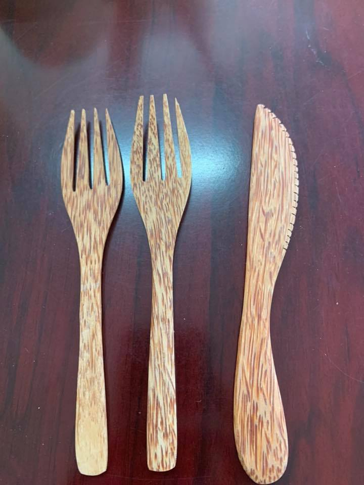 Biodegradable Eco-friendly Nature Reusable Bamboo Cutlery Set