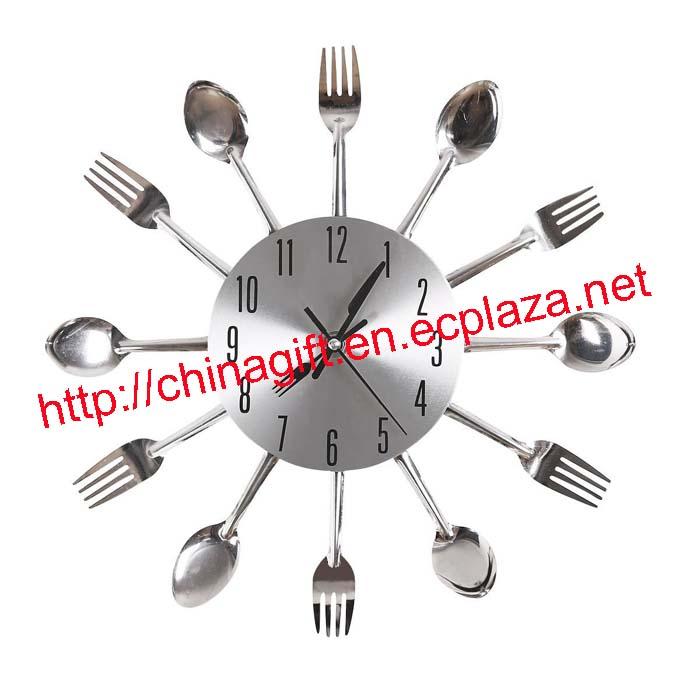 Cutlery Kitchen Fork & Knife Wall Clock