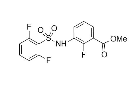 Methyl 3-{[(2,6-difluoropheyl)sulfonyl]amino}-2-fluorabenzoate (CAS NO.:1195768-19-4)