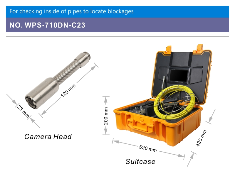 WOPSON Waterproof sewer camera inspection water pipes duct