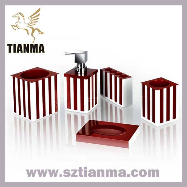 2013 New Design Dark Green Resin Bathroom Accessories Set