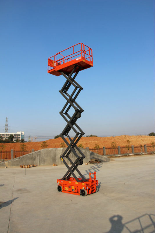 Electric Scissor Lift with 13.8m Platform Height 227kg GTJZ1412
