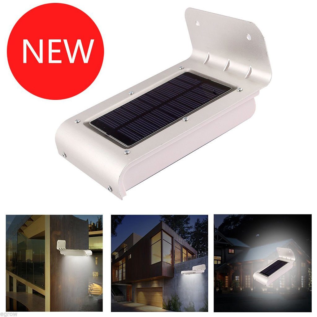 2ND 16LED Waterproof Solar Power Motion LED Light Security Wall Garden Path Lamp