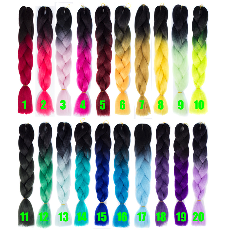 ombre braid hair
