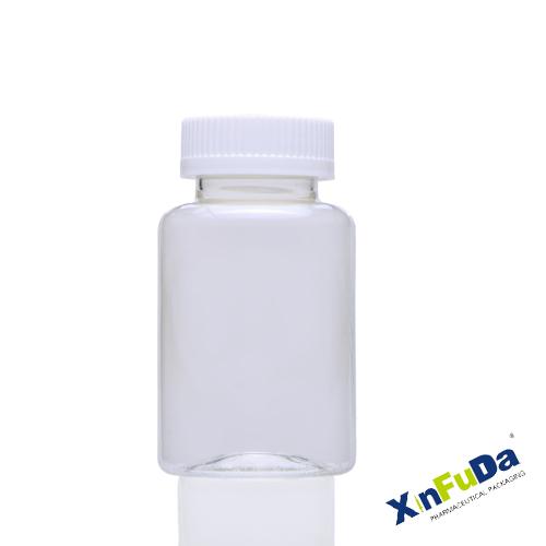 PET transparent solid capsule container