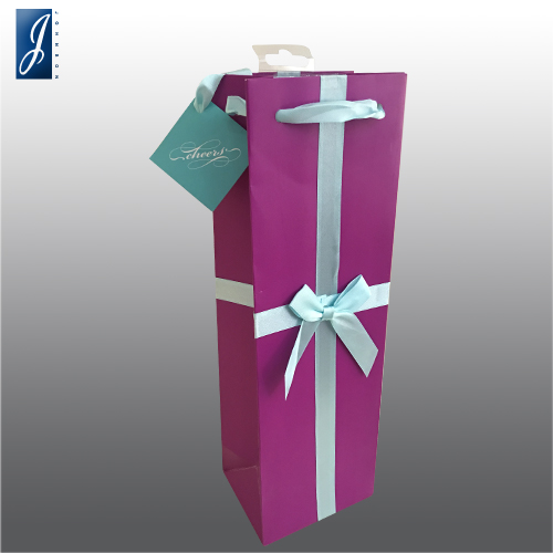 Customized wine gift paper bag