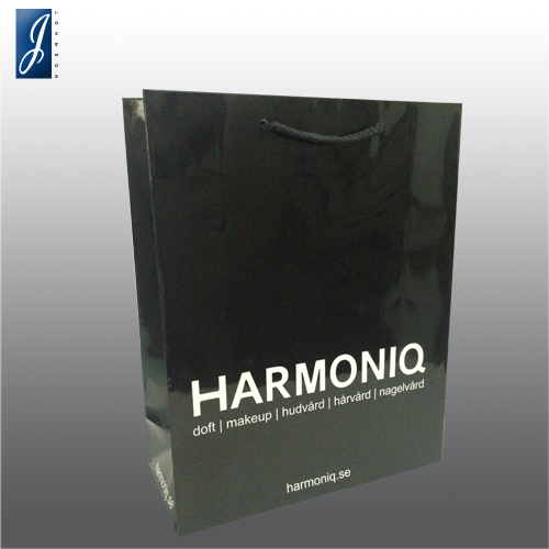 Customized medium promotional paper bag bag for HARMONIQ