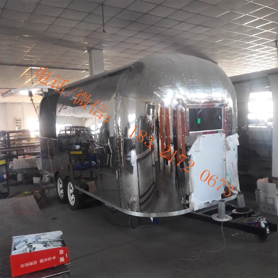 Saudi Arabia hot sale stainless steel food truck mobile flat grill food trailer fryer fast food cart