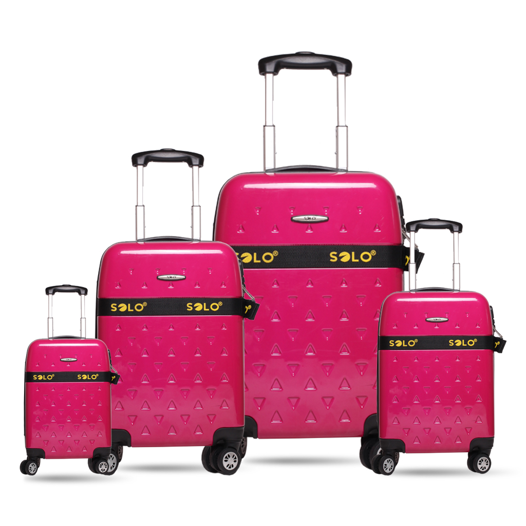 SOLO Spinner Trolley Case Luggage Set: SOLO presents durable and premium quality travelling bags.