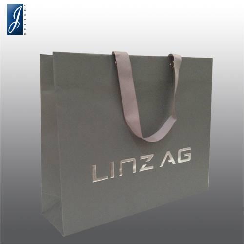 Customized medium paper bag for LINZ AG