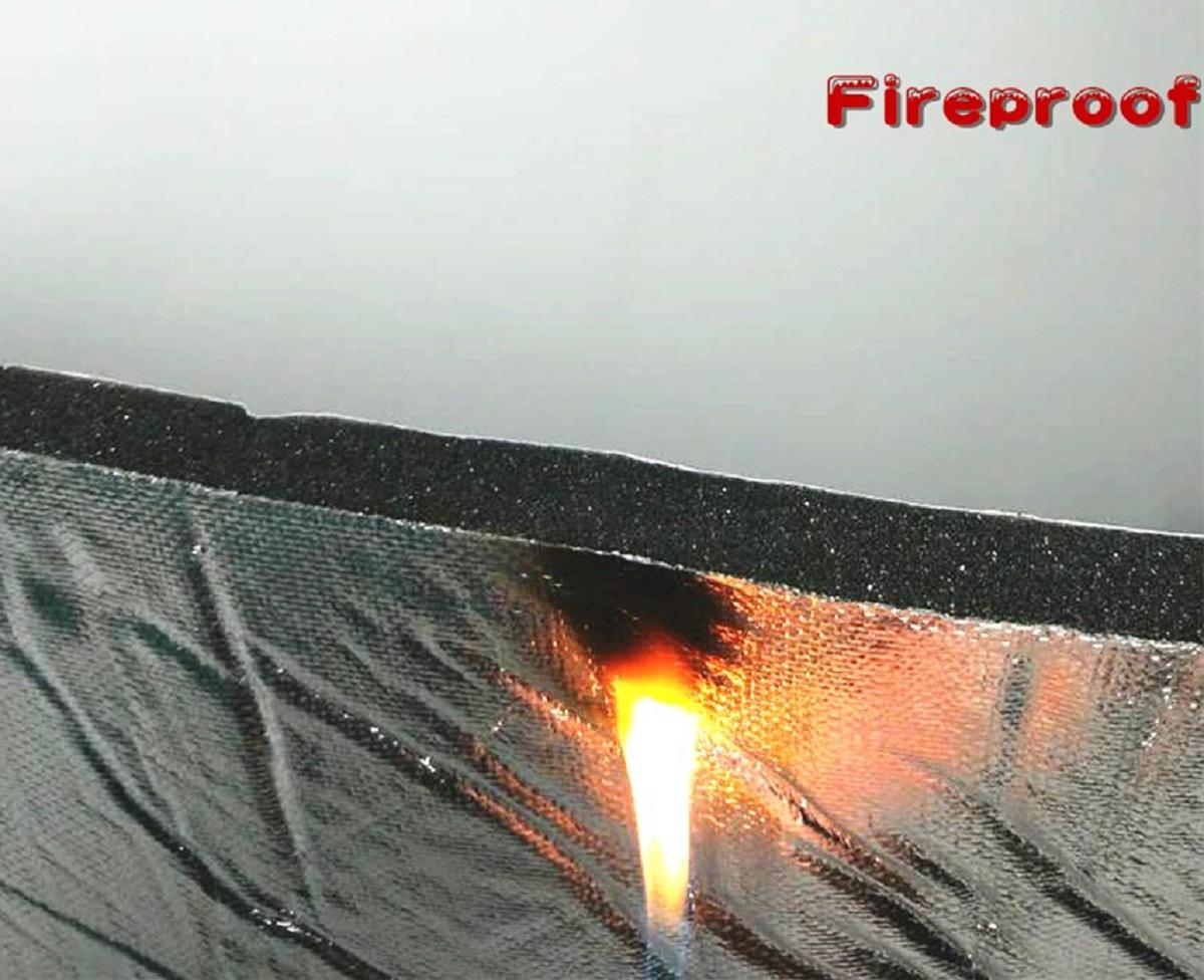 "Hood-Liner 55"" x 32"" x 3/5"" Fireproof Self-Adhesive Automotive Insulation Foam Sound Deadening"