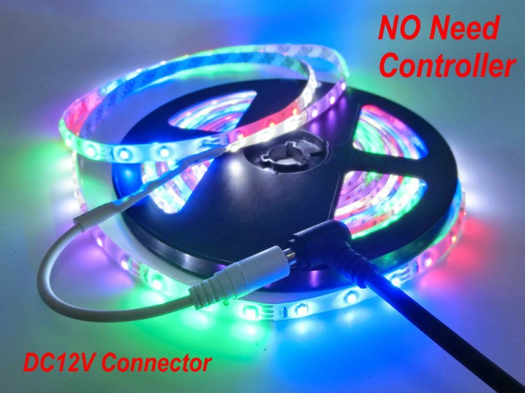 Colors Changing IP65 Waterproof 3528 LED Strip,Duilt-in Controller and DC12V Connector,,5 Colors