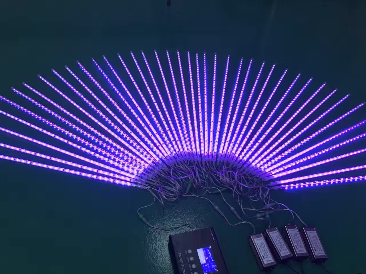 Digital meteor light like as movie IP68 for outdoor Decoration
