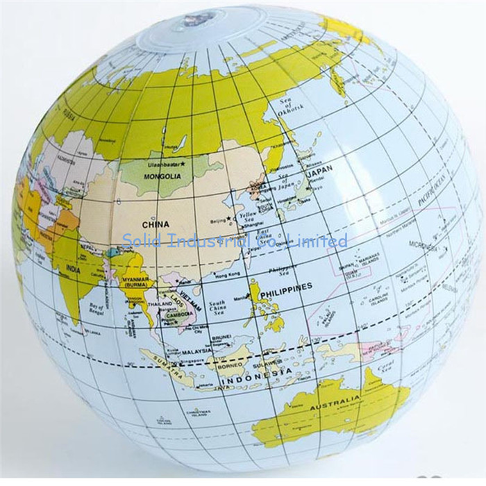 Inflatable Globe Ball for school student