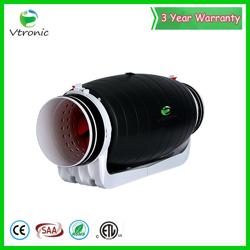 CE high pressure 3 year warranty silent inline duct fan