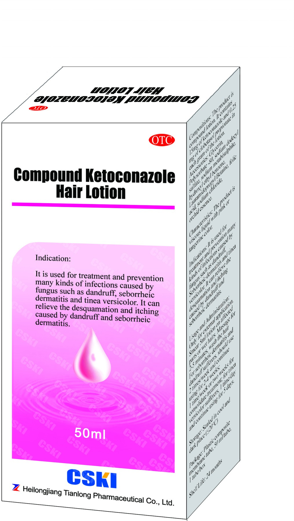 Hair lontion for dandruff, capitis pityriasis, seborrheic dermatitis and chromophytosis