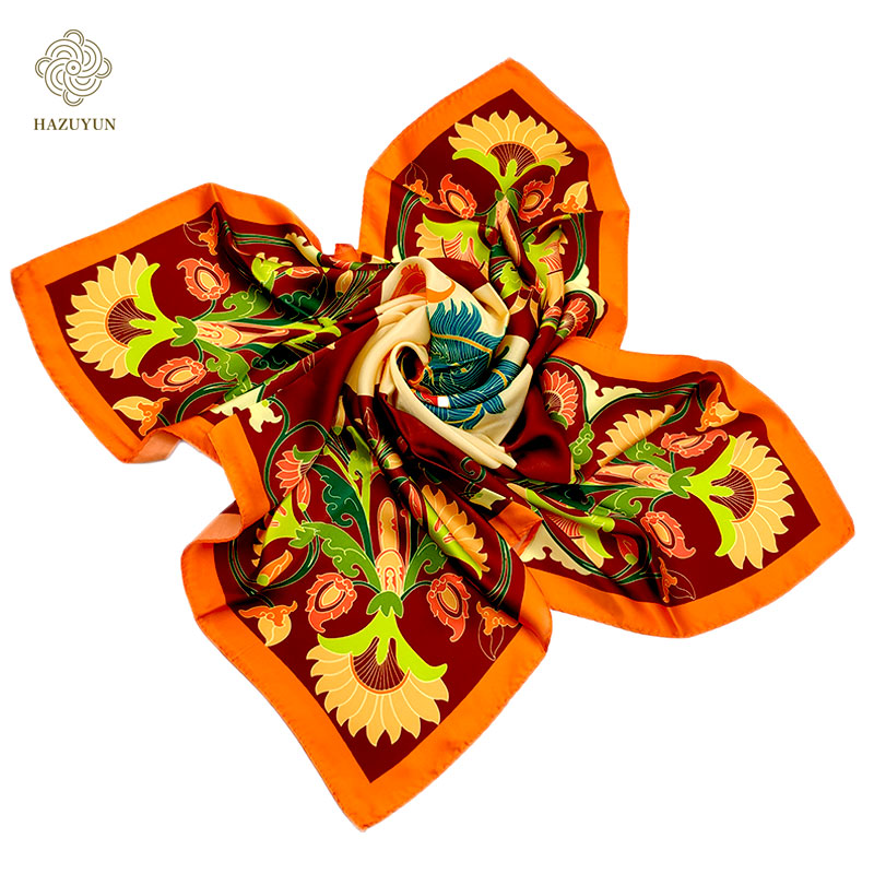 Wholesale Hot Sale Fashion Classic Artis Design Digital Printing Wensli Silk Feel Scarves