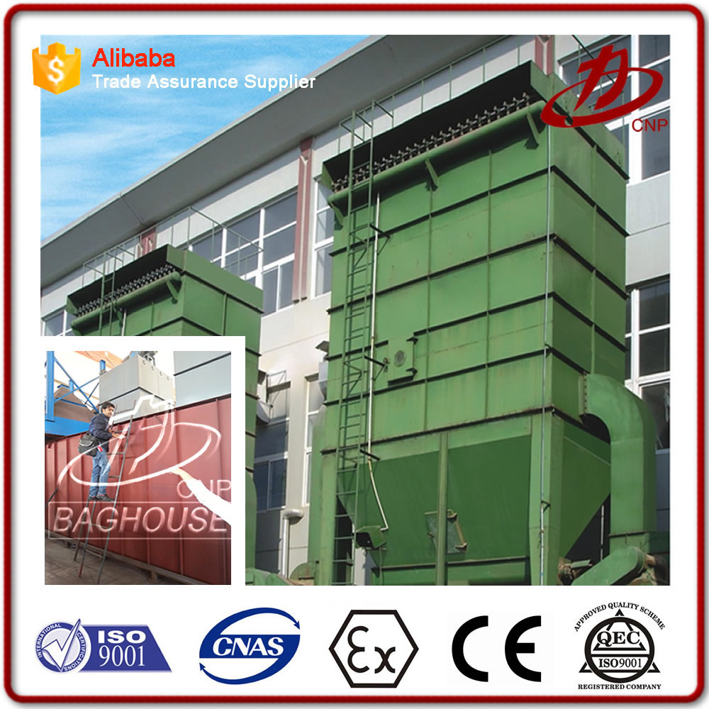 Industrial bag filter dust collector for cement kiln