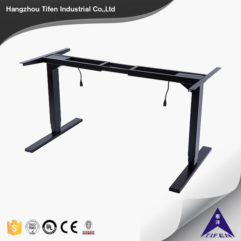 China factory price ergonomics electric height adjustable sit stand up desk