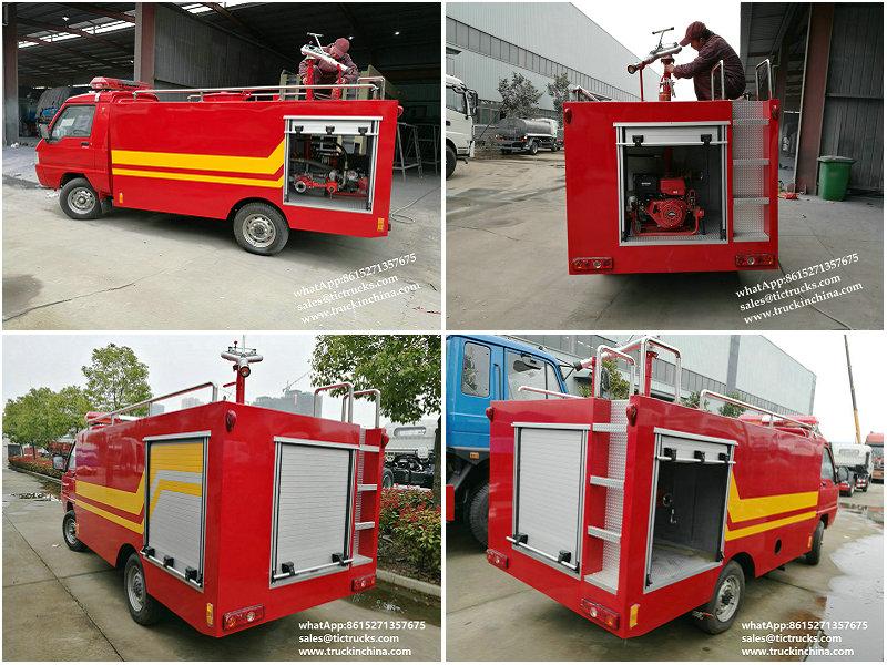 Portable pump fire fighting truck 1000L Fire Fast (Quick) Attack Fire Truck