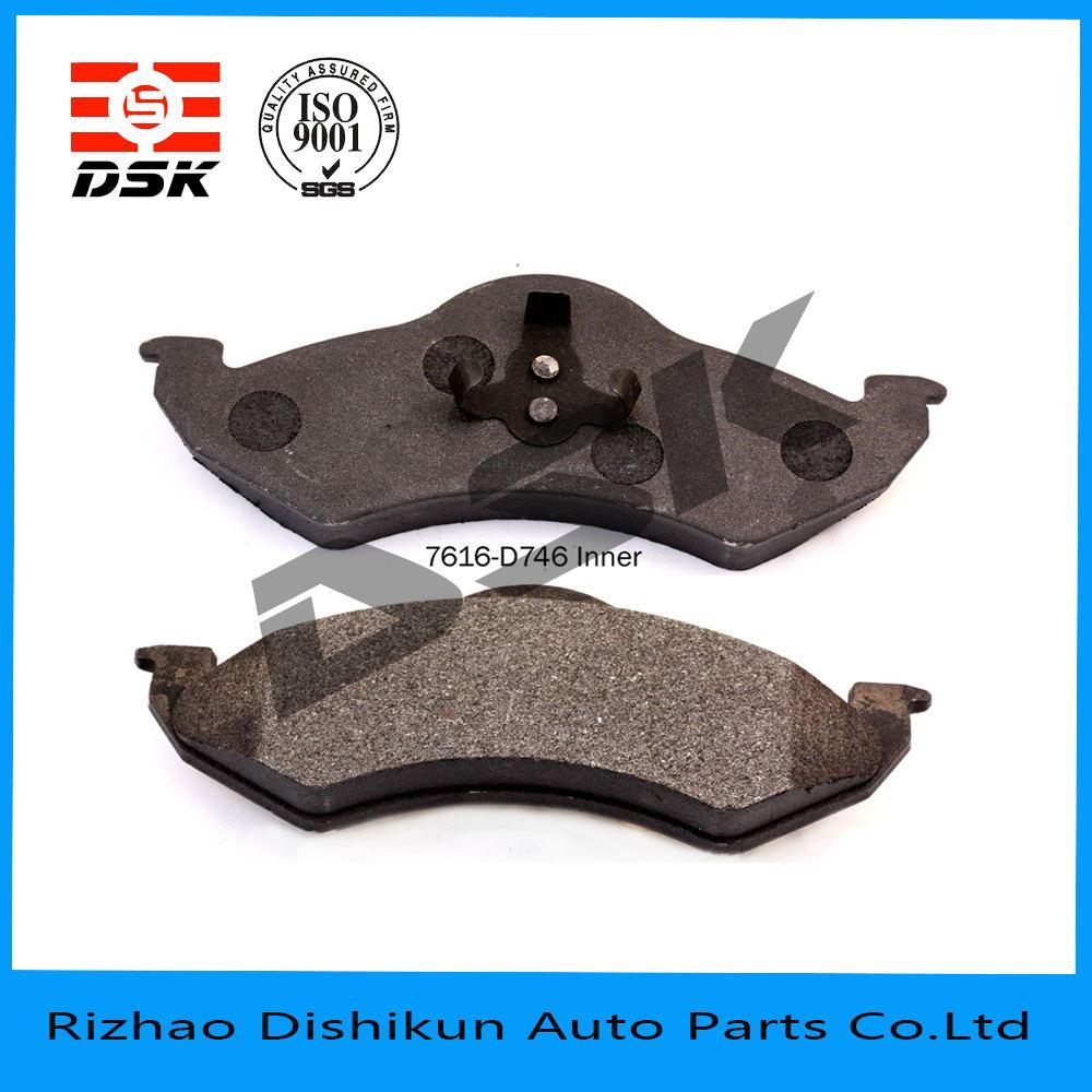 excellent quality low noise auto part brake pad d746-7616