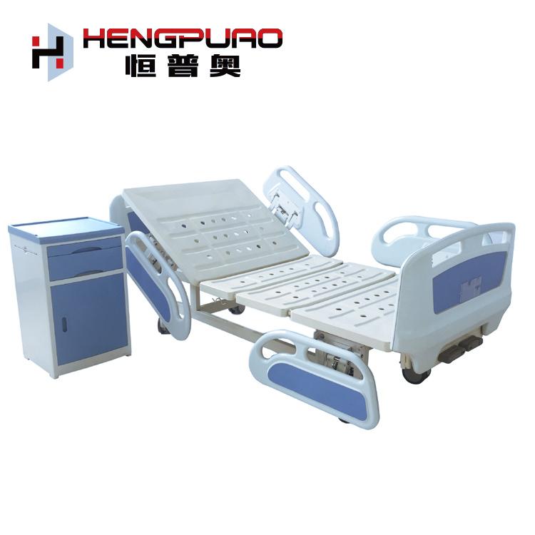 adjustable manual two cranks elderly care nursing medical bed for hospital patient