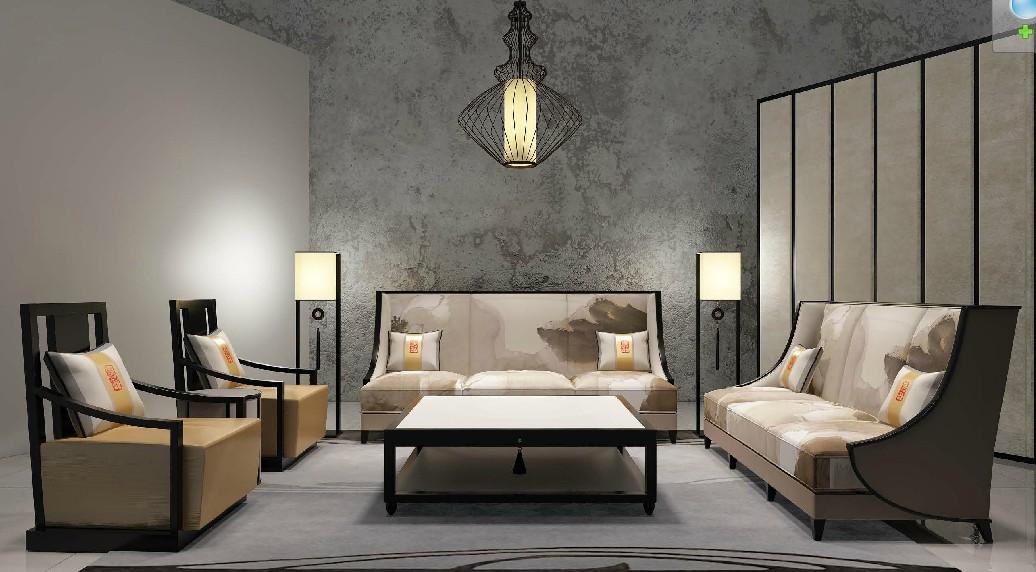Chinese style classic living room sofa set villa hotel lobby sofa furniture