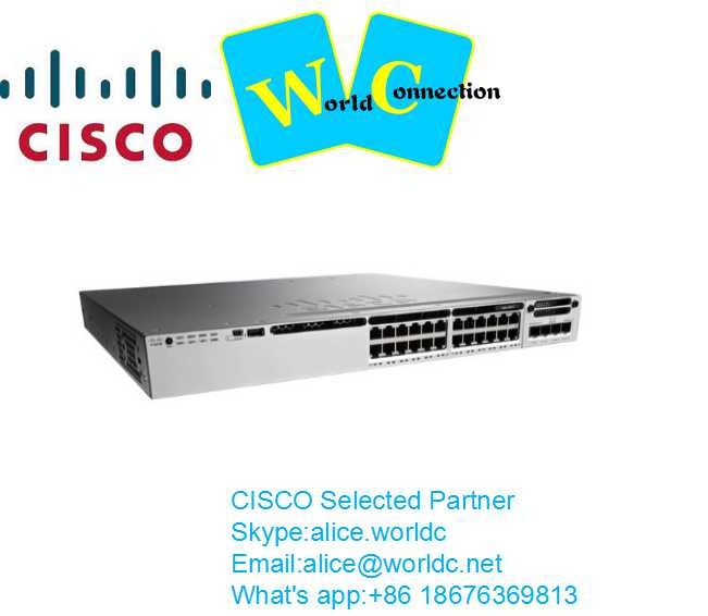 Cisco 3850 24 10/100/1000 Ethernet ports IP services switch WS-C3850-24T-E