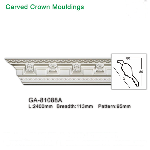 Wholesale polyurethane denticle crown moldings