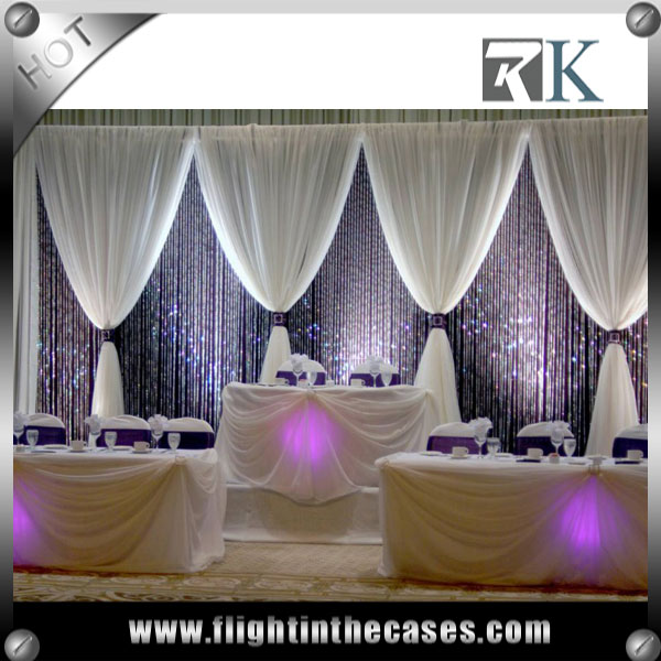 RK pipe and drape stands backdrop wedding decoration
