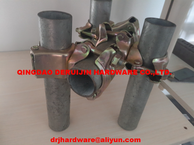 Double scafford coupler