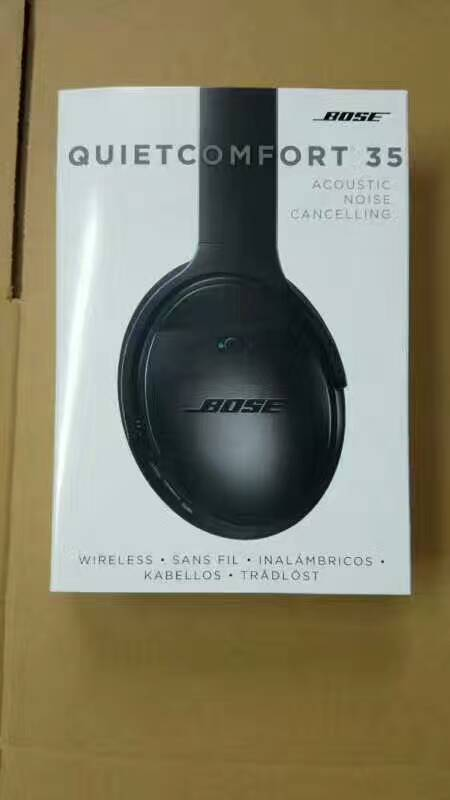Black Bose QC35 headphone with noise canceling