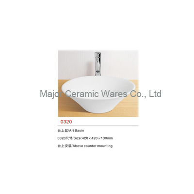0320 CERAMIC WASHBASIN, ART BASIN, COUNTER TOP BASIN