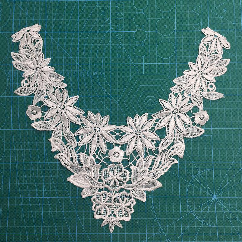 Fashion White Cotton Crochet Collar Lace for Garment