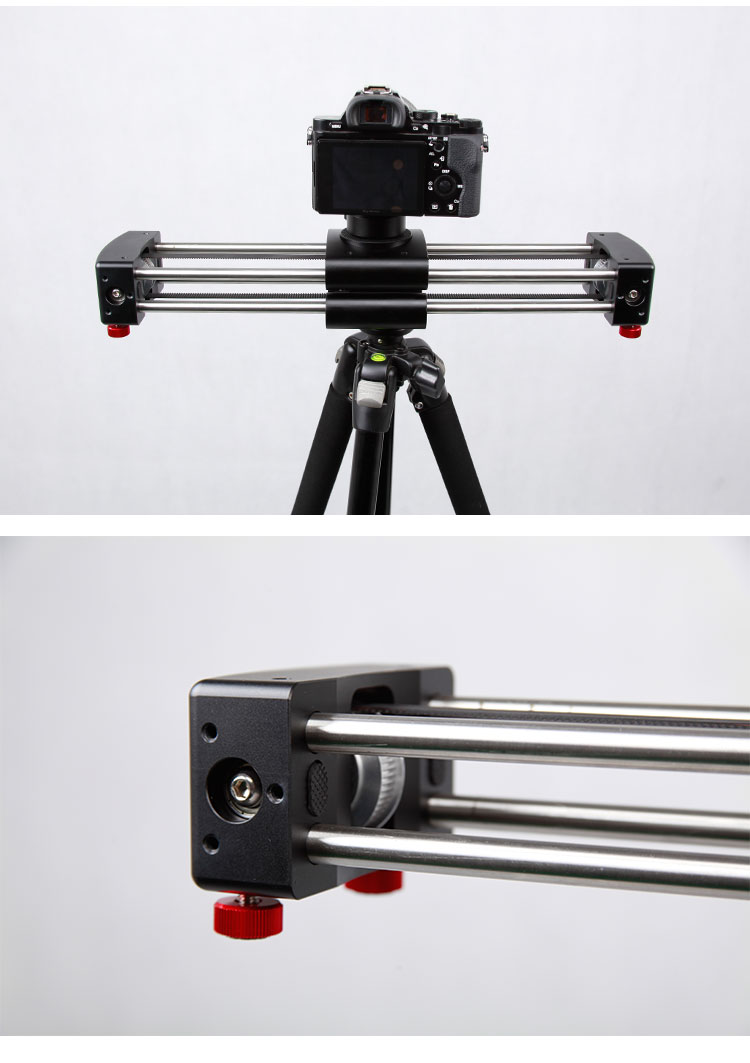 Portable camera slider adjustable double distance plus video dolly slider