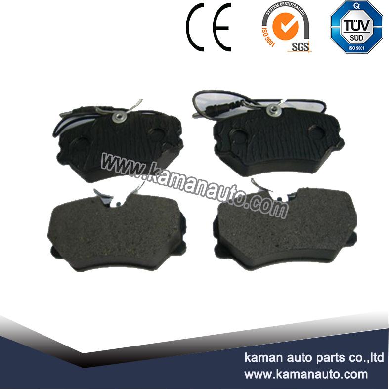 Car brake pads set with damper rubber
