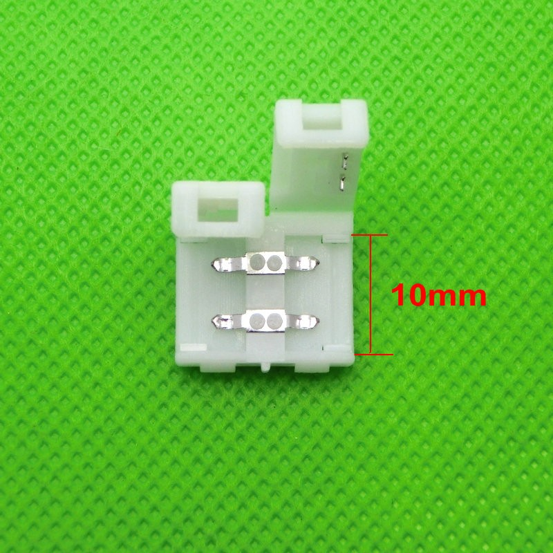 2pin 10mm Free Solder Connector For 5050 5630 5730 Single Color LED Strip