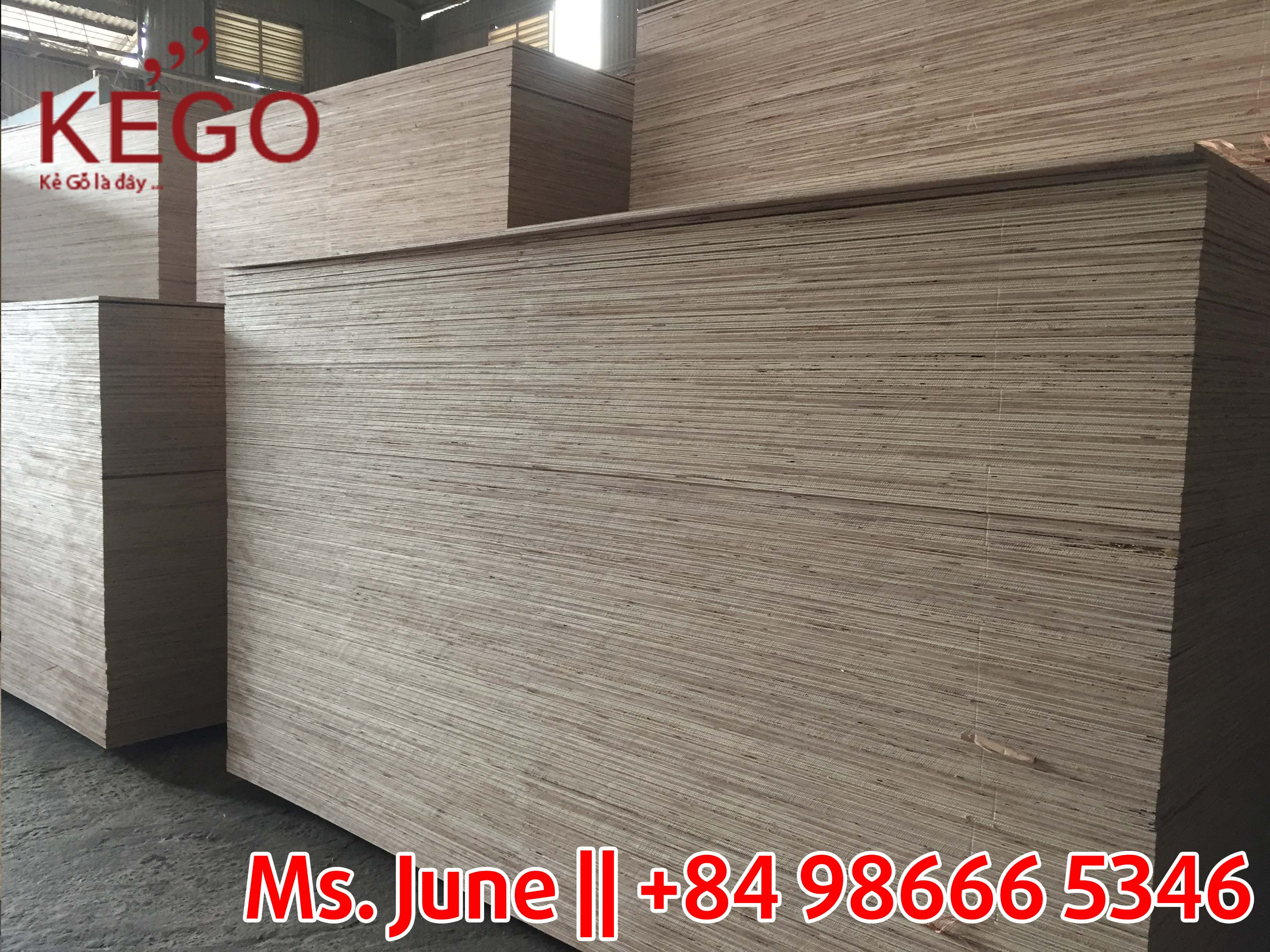 Packing plywood with many thickness