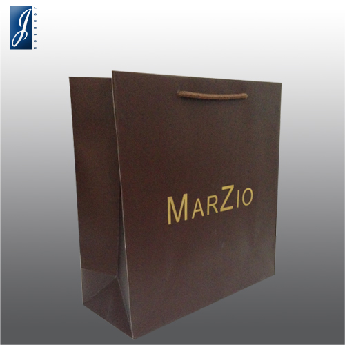 Customized medium packaging paper bag for MARZIO