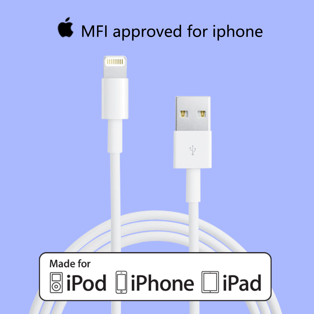 Original White APPLE MFI Certified Lightning Cable-Apple MFI Certified Manufacturer